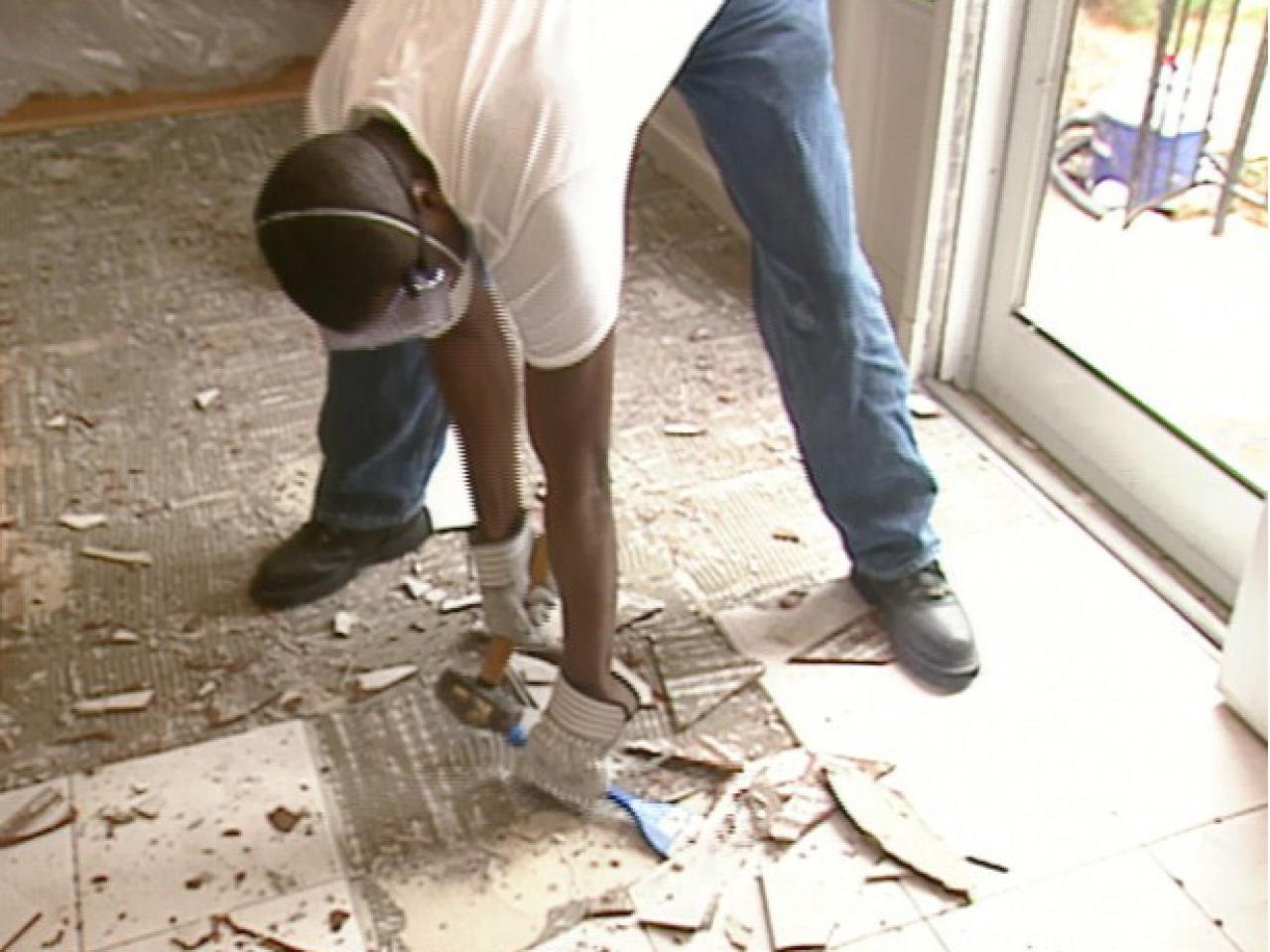 How to prep for a slate floor how tos diy demolish existing floor down to underlayment dailygadgetfo Image collections