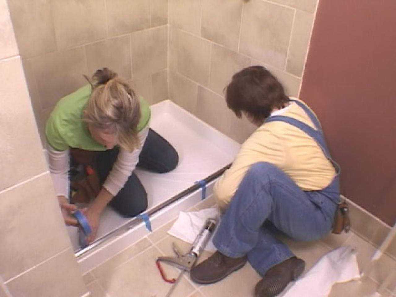 Installing A Glass Shower Door How Tos Diy