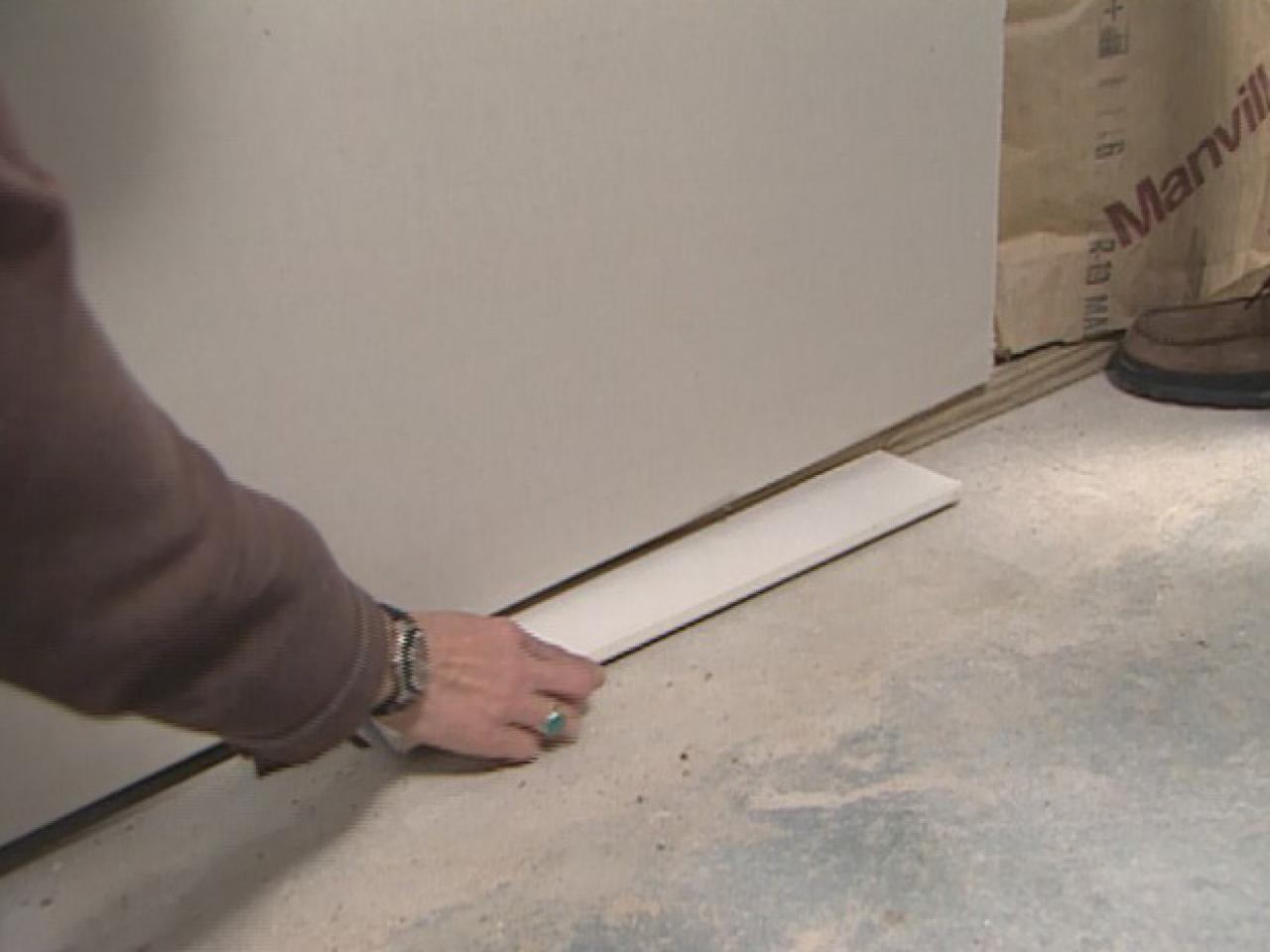 How To Install Basement Drywall Howtos DIY - Drywall for basement
