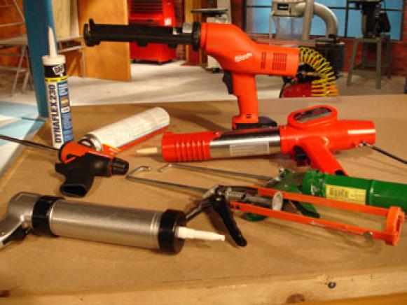 many choices of caulk guns are available