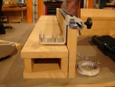make homemade stop for miter saw