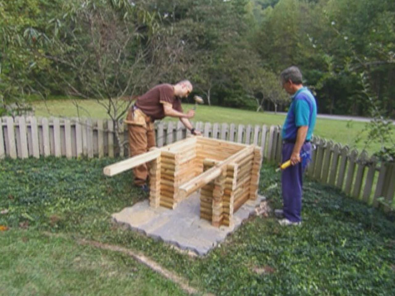 How to build a log cabin doghouse how tos diy Step by step to build a house