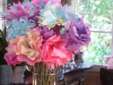 coffee filter flowers are fun and imaginative