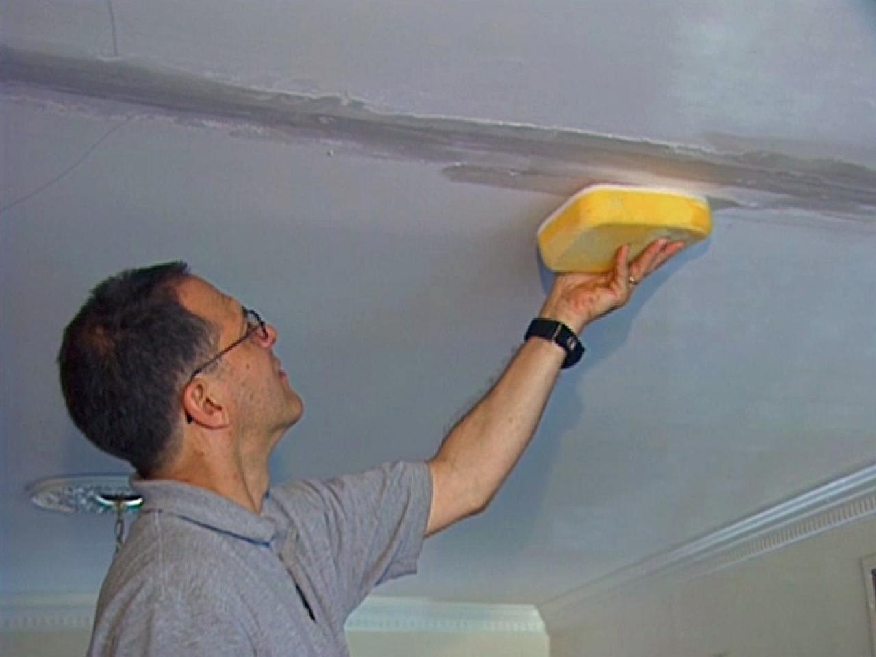 How To Cover A Ceiling Crack How Tos Diy