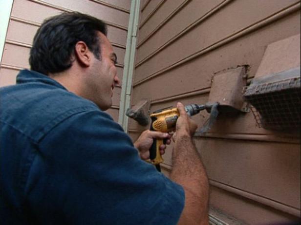install new exterior dryer vent