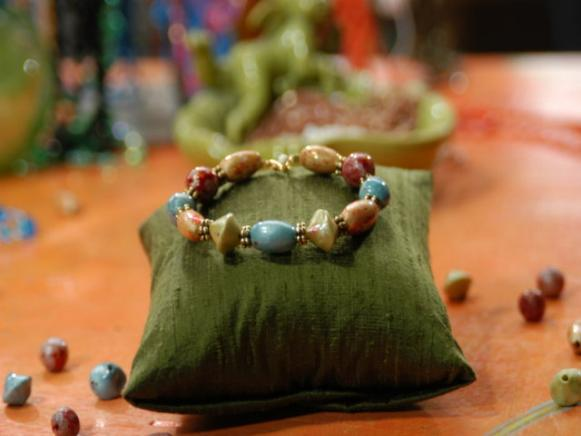 clay bead bracelet is ready to wear and enjoy