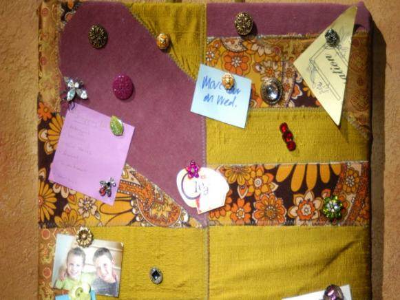 patchwork tack board perfect for posting messages