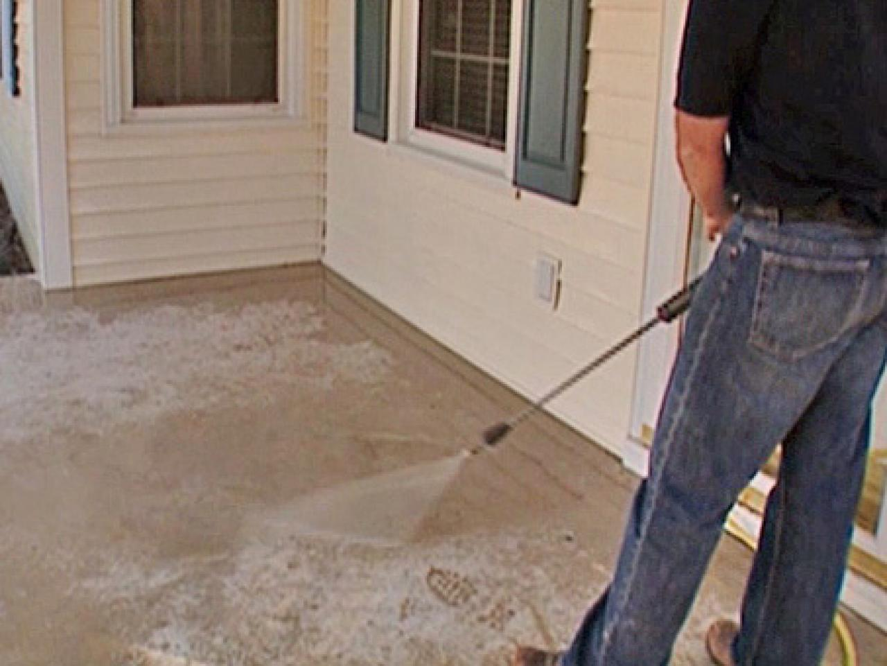 How To Stamp A Concrete Porch Floor How Tos Diy