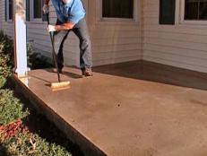 etch the concrete porch floor with muriatic acid