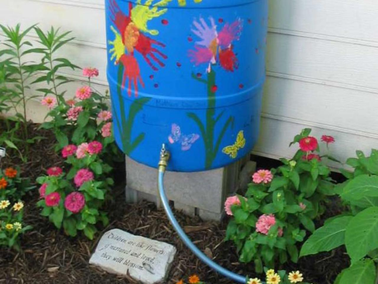 Rain barrel tips diy for How to water a garden