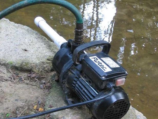 simple submersible pump used to pump water