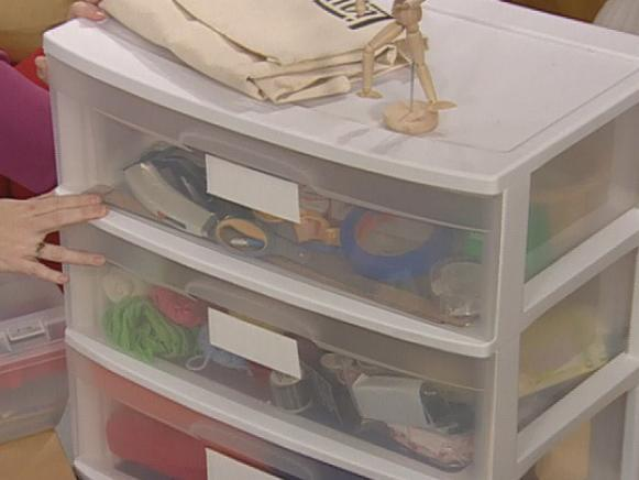 clear drawers allow crafter to see what is inside