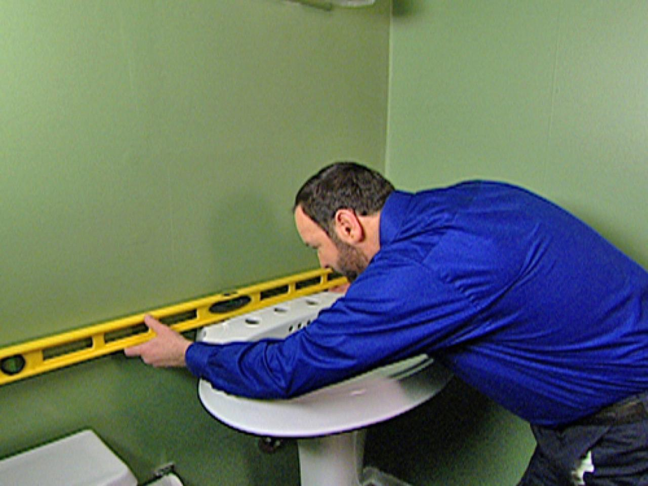 Step 2. How to Install a Pedestal Sink   how tos   DIY
