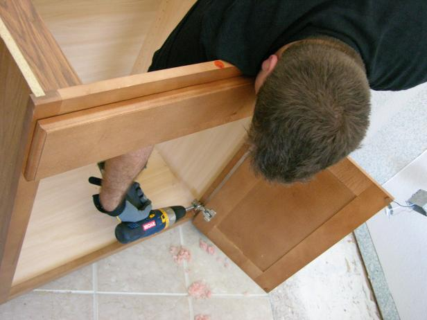 remove all vanity doors to protect against damage