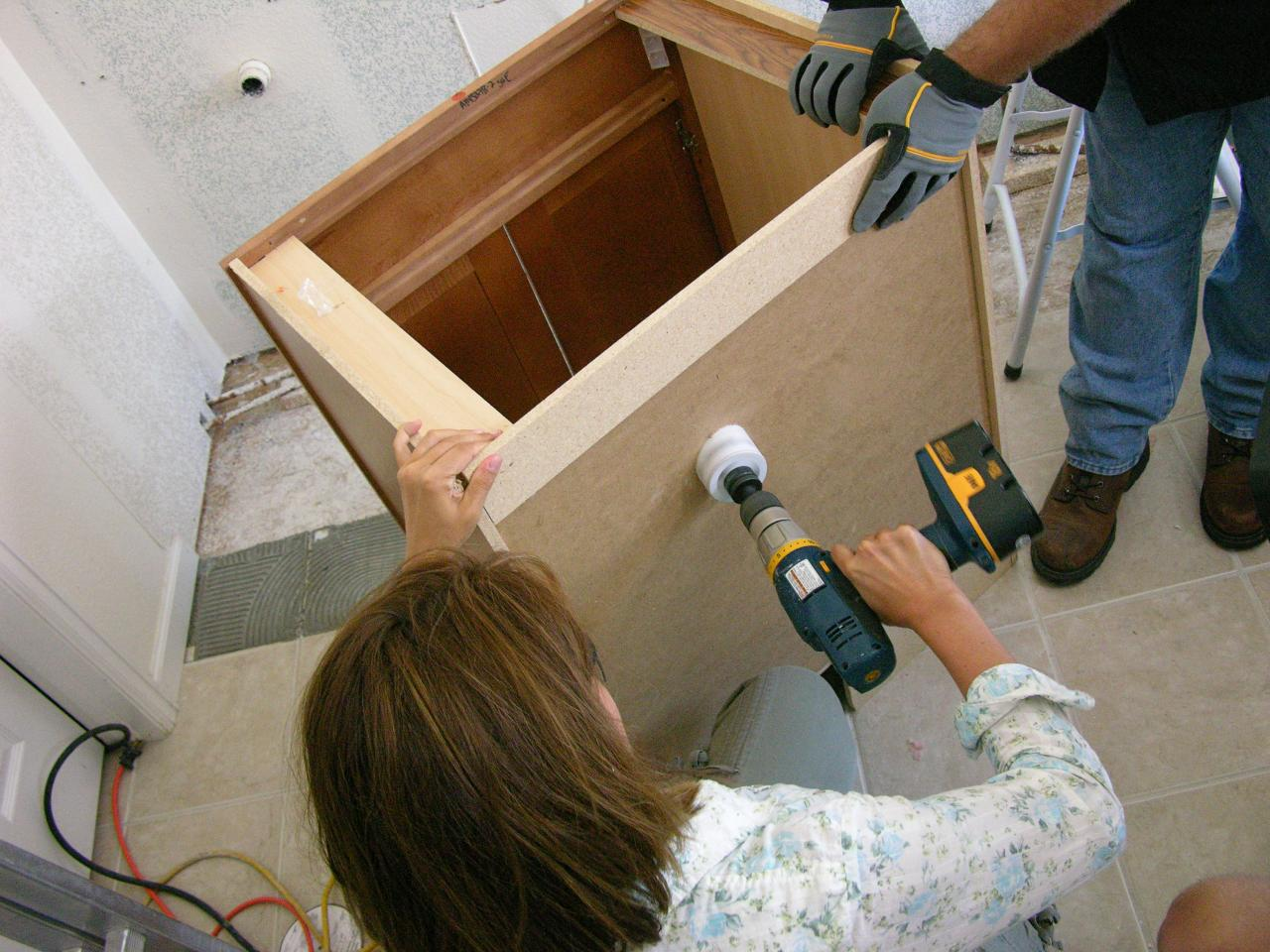 How To Install A Vanity In A Master Bathroom How Tos Diy