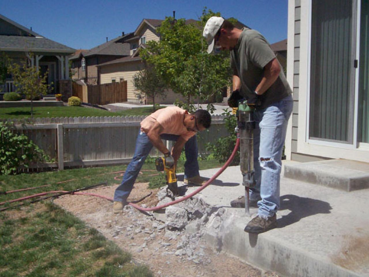 Tips for demolishing concrete diy for Removing concrete driveway