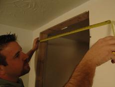 measures door way opening to prepare for new door