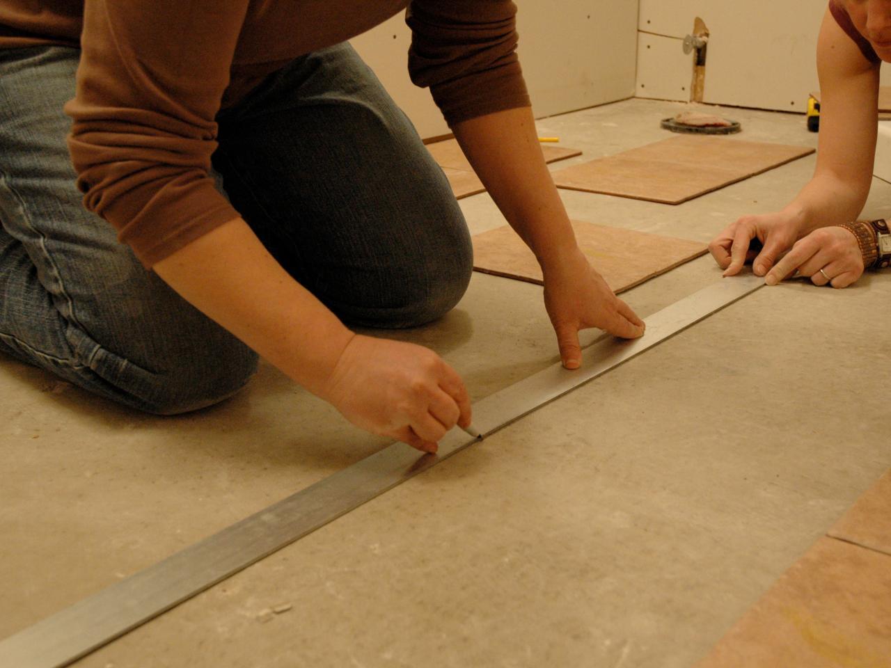 How to install a bathroom towel warmer how tos diy how to install tile on a bathroom floor installing ceramic dailygadgetfo Choice Image