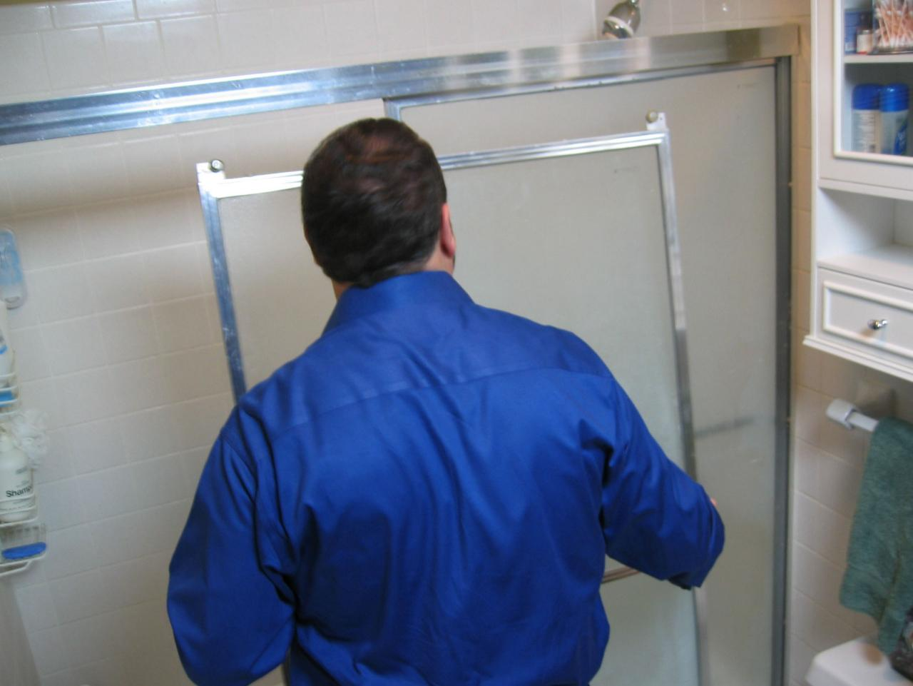 How to replace shower door bottom guide - Diy Replacing A Shower Door