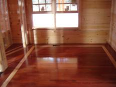 installed cherry hardwood floors