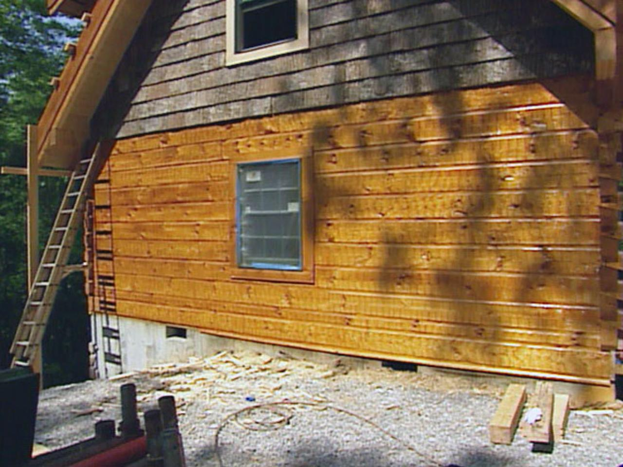 How To Treat And Stain Wood Siding How Tos Diy