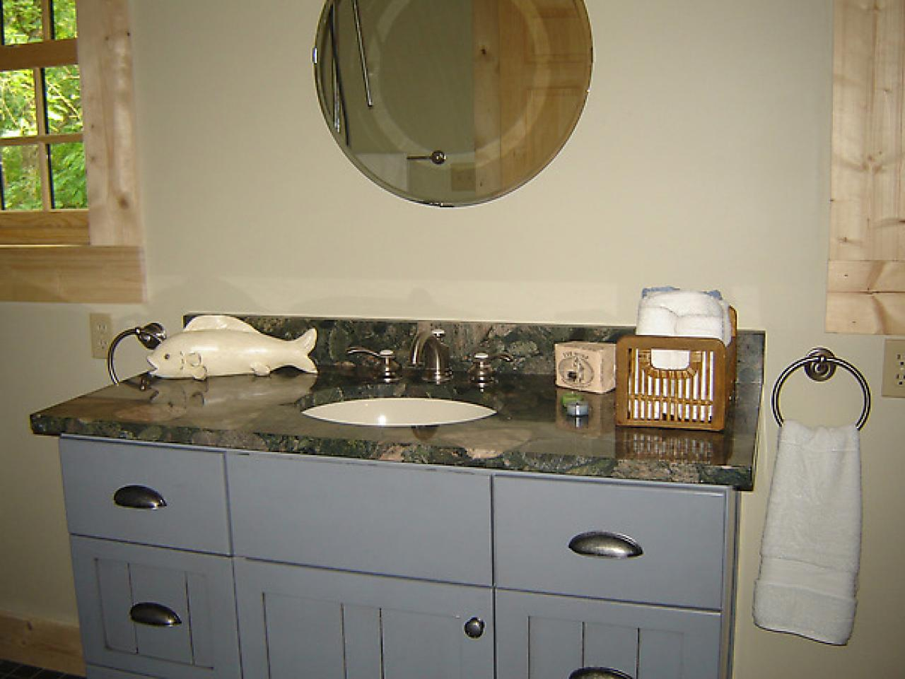 vanity installed in blog cabin master bathroom