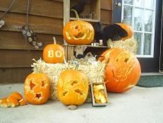 Carved Halloween Pumpkins