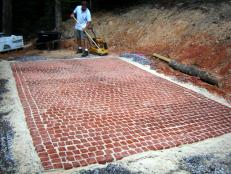 finished pad for cobblestone patio