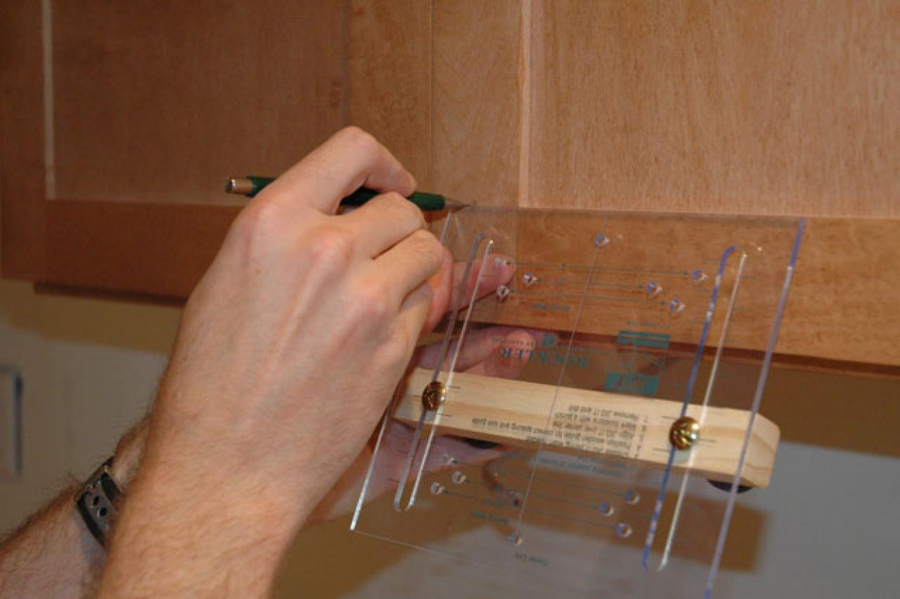 How to install cabinet door hardware how tos diy for Installing kitchen cabinets