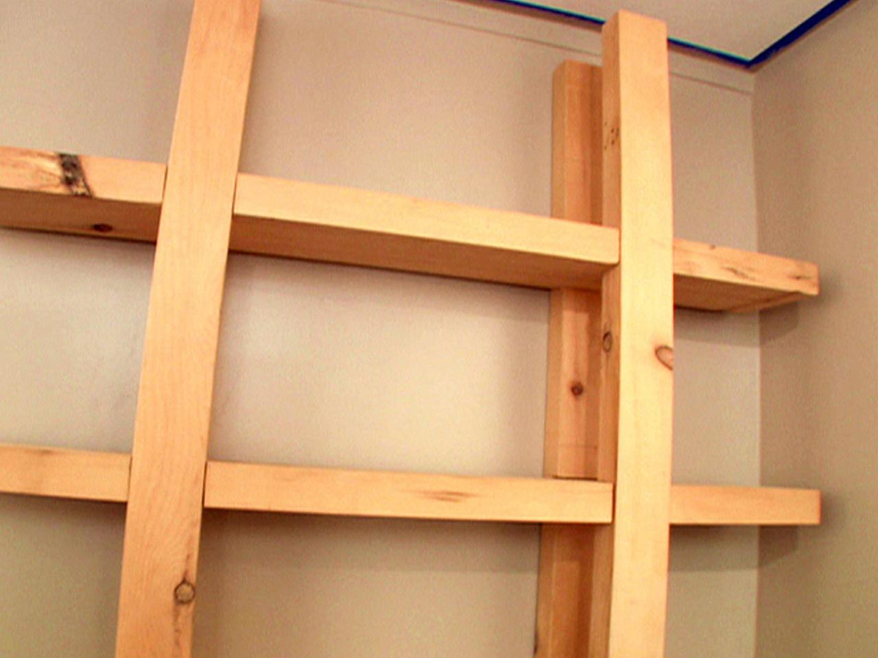 how to build reclaimed wood shelves how tos diy. Black Bedroom Furniture Sets. Home Design Ideas