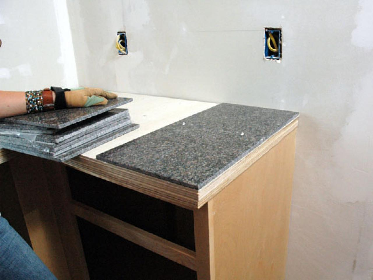 Tile Countertop Kitchen How To Install A Granite Tile Kitchen Countertop How Tos Diy
