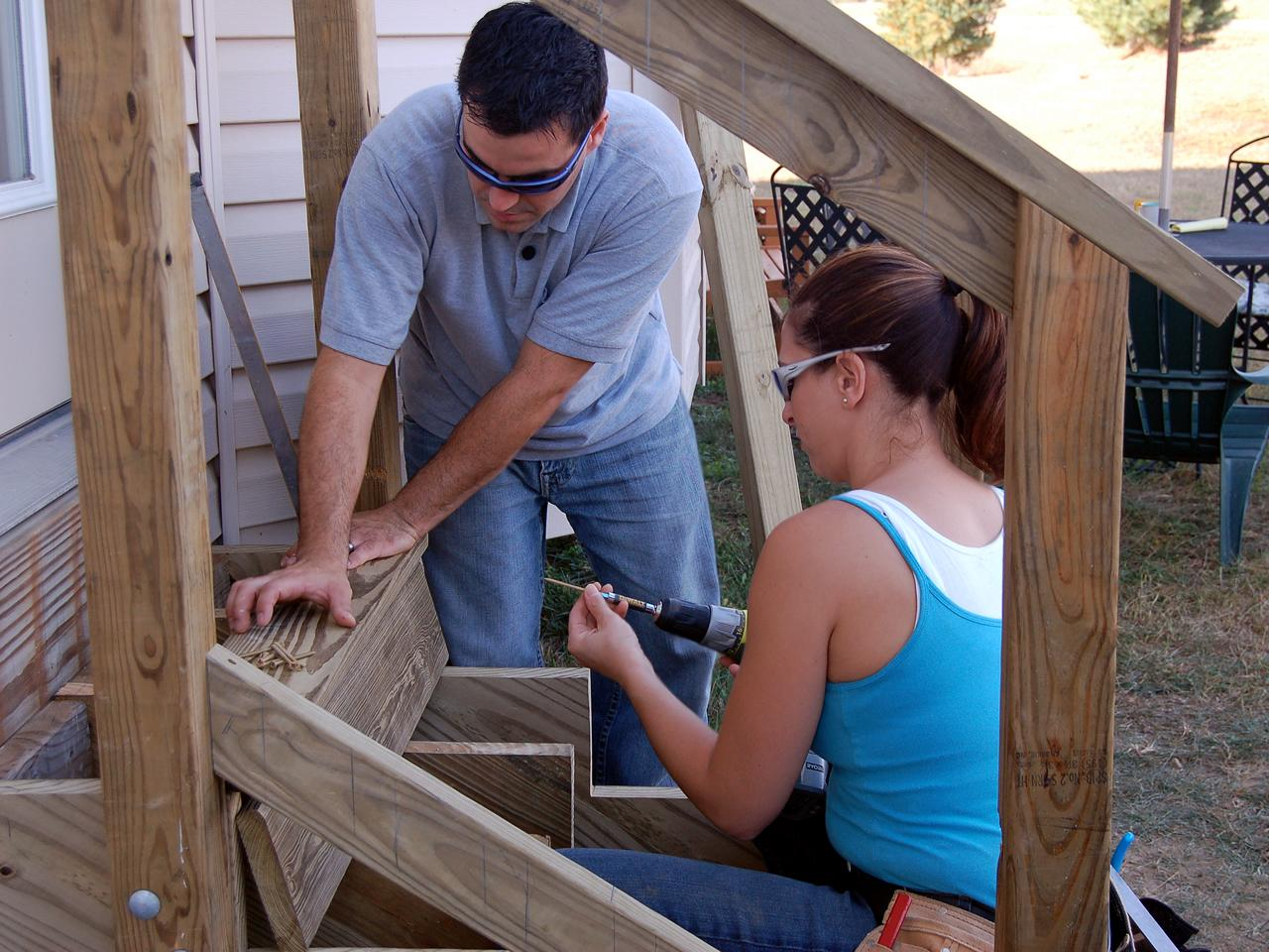 How to build exterior stairs how tos diy for Steps to building a house yourself