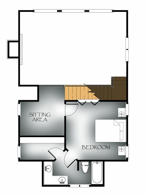 Upper-Level: Vaulted-View Lodge Floor Plan Winner