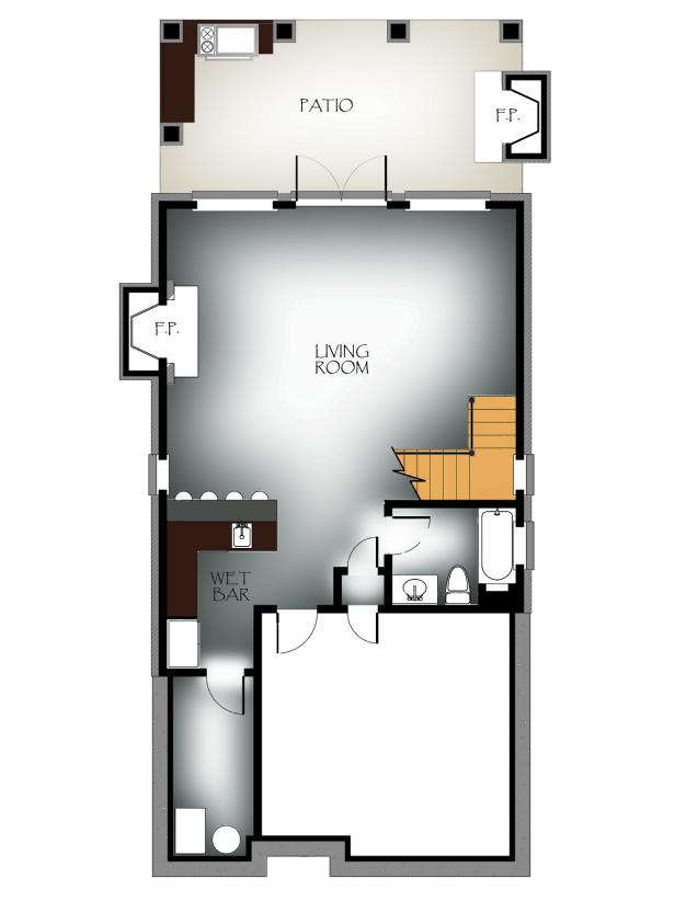 Basement Level: Vaulted-View Lodge Floor Plan Winner