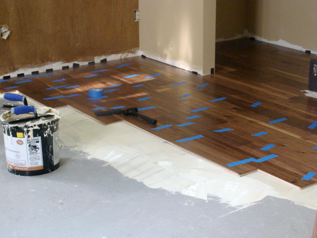 Installing hardwood flooring over concrete how tos diy for What can i do to my concrete floor