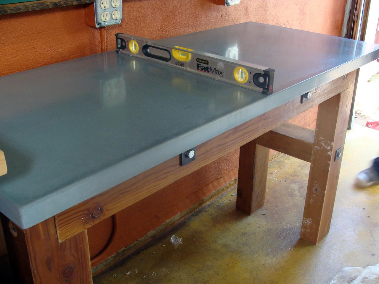 Concrete Countertop For A Workbench How Tos Diy
