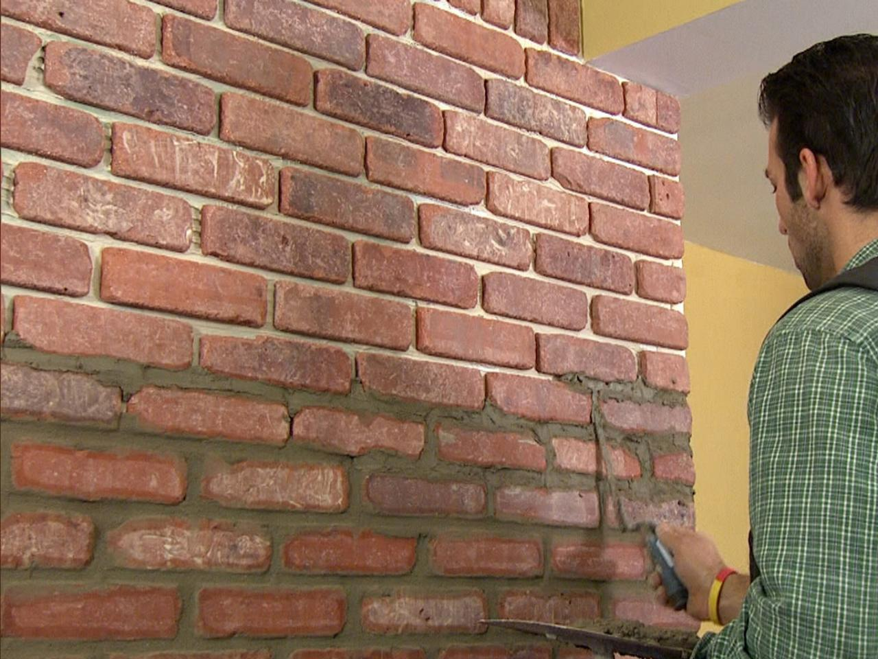 How to install brick veneer on a wall how tos diy How to put tile on wall in the kitchen