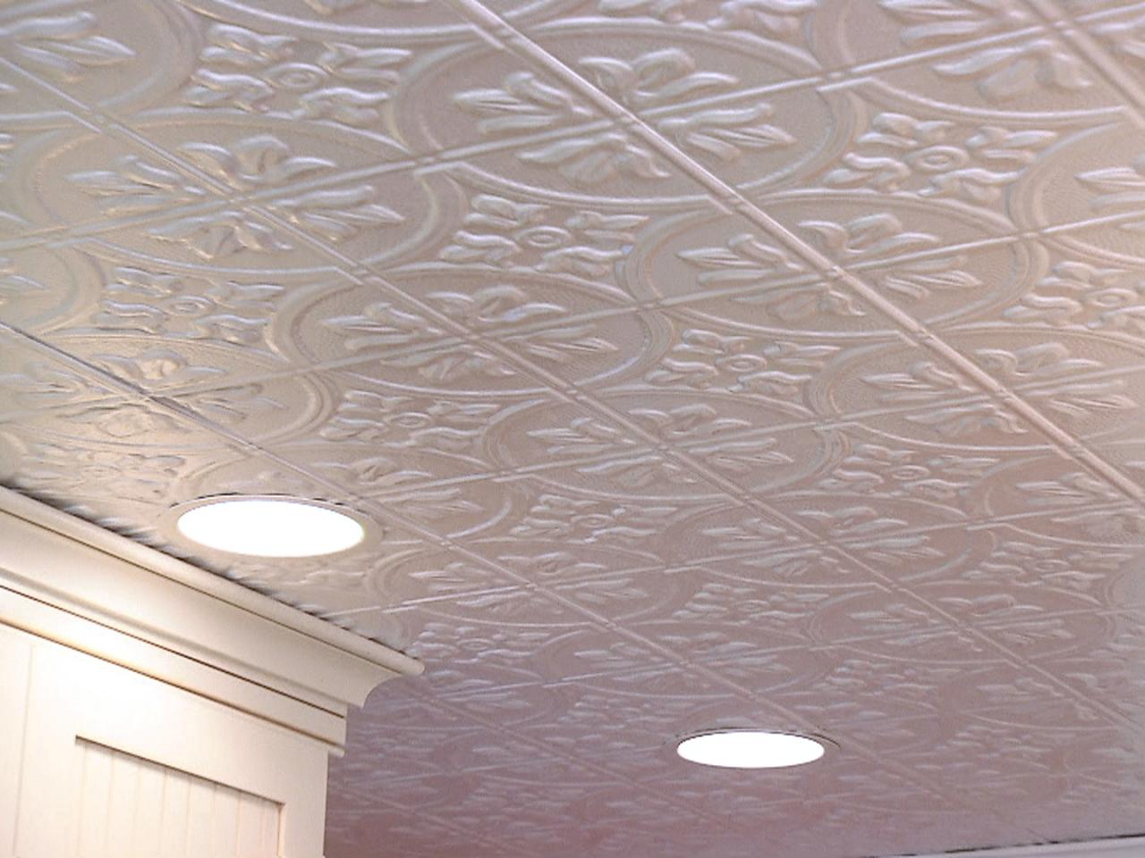 How to install a tin tile ceiling how tos diy step 5 doublecrazyfo Choice Image