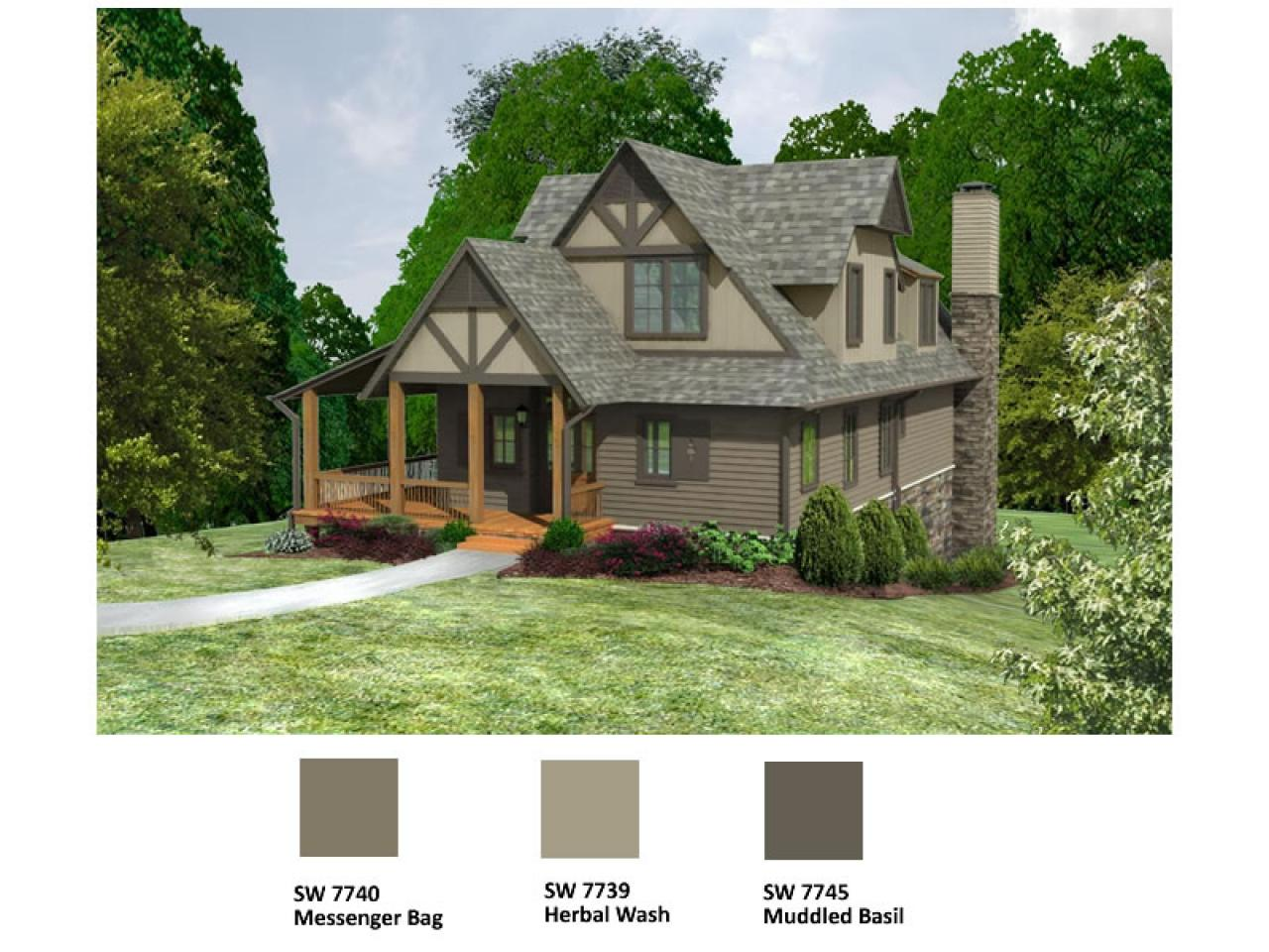 Blog cabin 2009 flooring and exterior paint color voting - Colour schemes for exterior house paint ...
