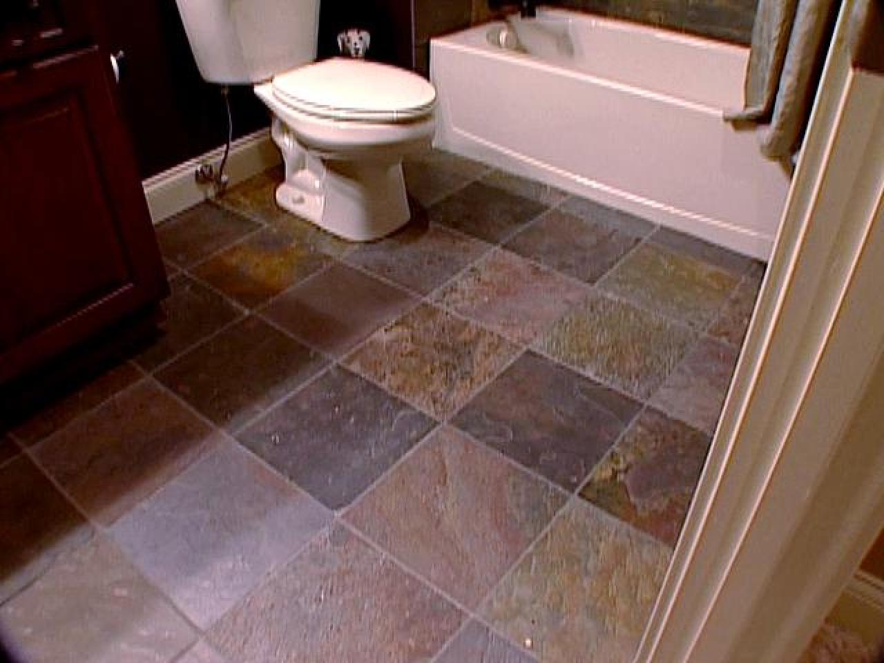 The pros and cons of slate tile diy Bathroom flooring tile