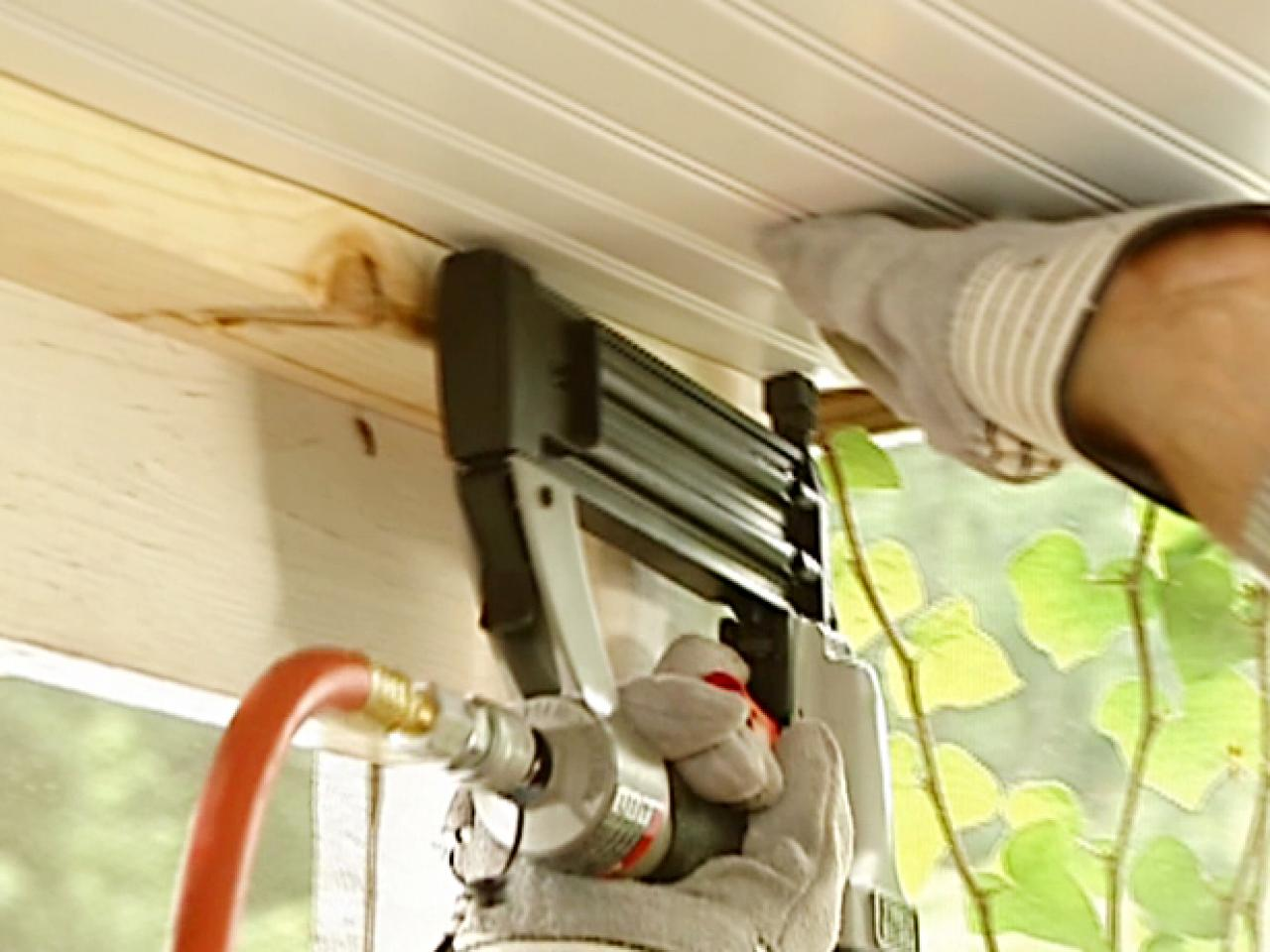 How To Install A Beadboard Ceiling In A Porch How Tos Diy