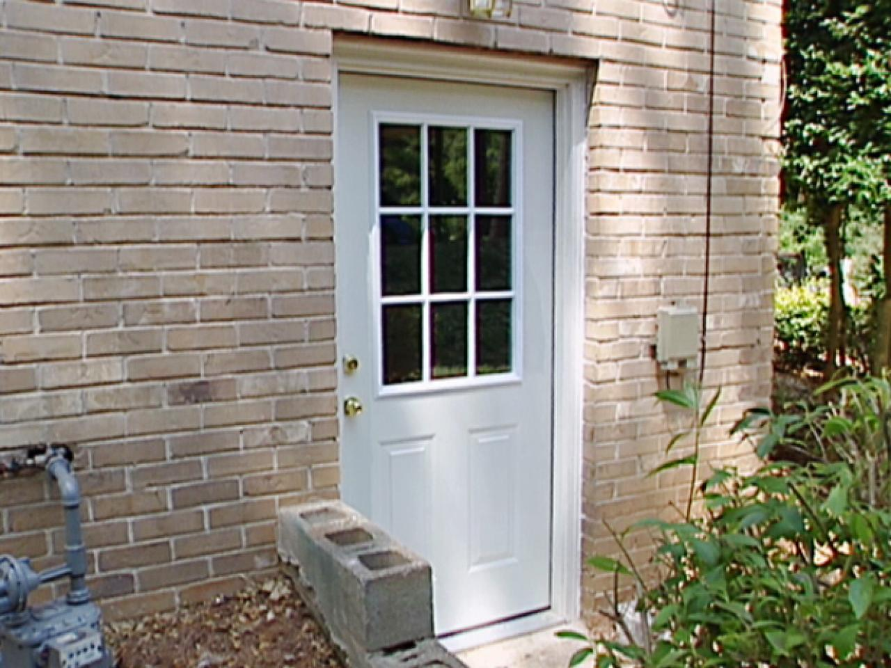 How to install a pre hung exterior door how tos diy for Adding exterior basement entry