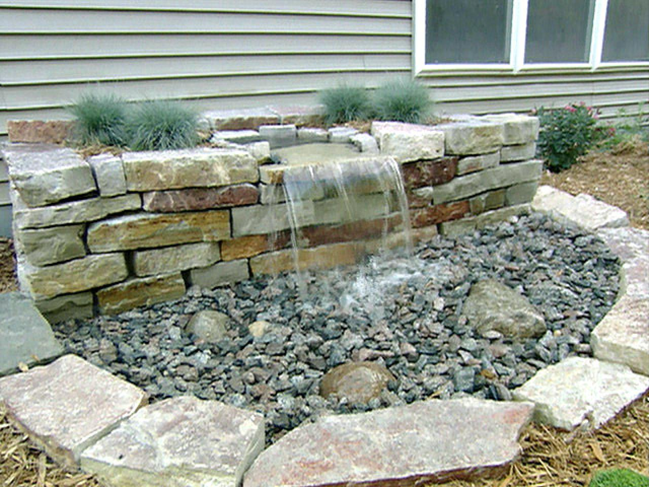 Diy front yard landscaping pondless waterfall joy studio for Homemade diy