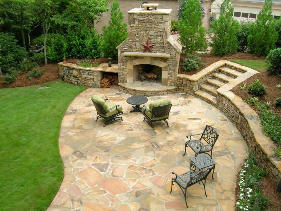 landscaping around deck. patio deck and fire pit combination in ... - Deck Patio Designs