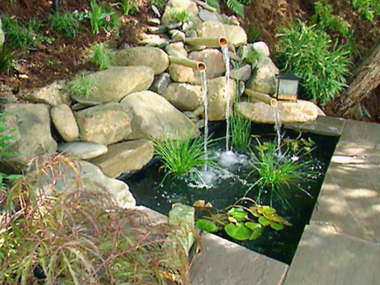 Water features for any budget diy for Backyard ponds and water features