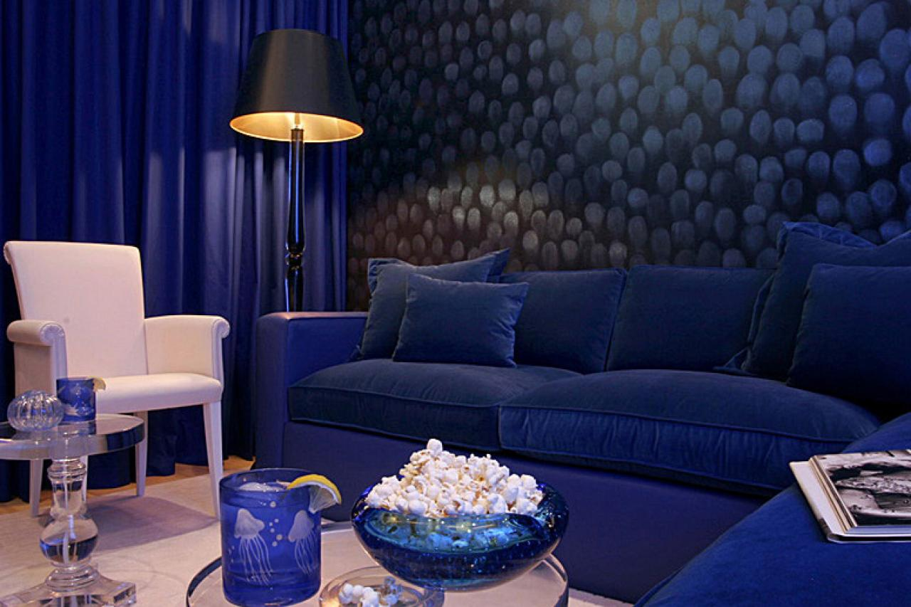 balanced and blue - Blue Color Living Room Designs