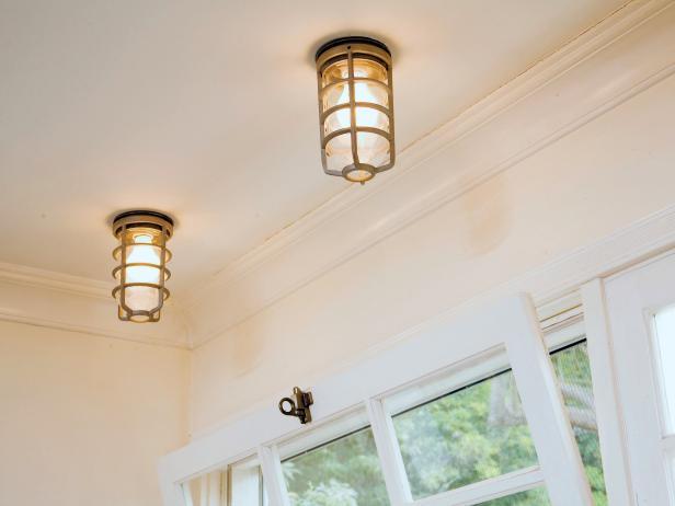 Simple, Geometric Ceiling Lights