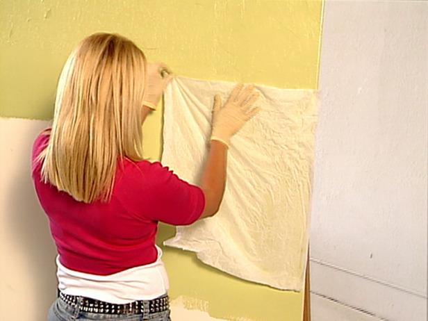Lay Tissue Over Paint