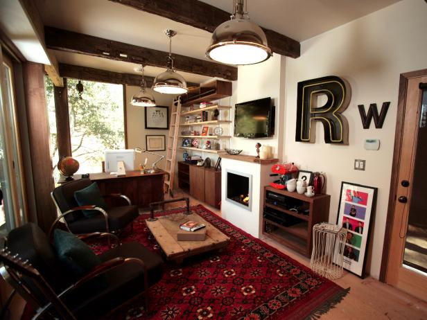 Rainn Wilson 39 S Home Office Man Cave Man Caves Diy