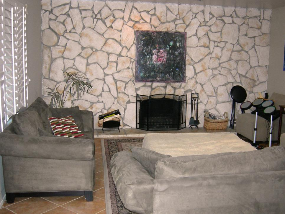 Fireplace makeovers before and afters from house crashers How to do a home makeover